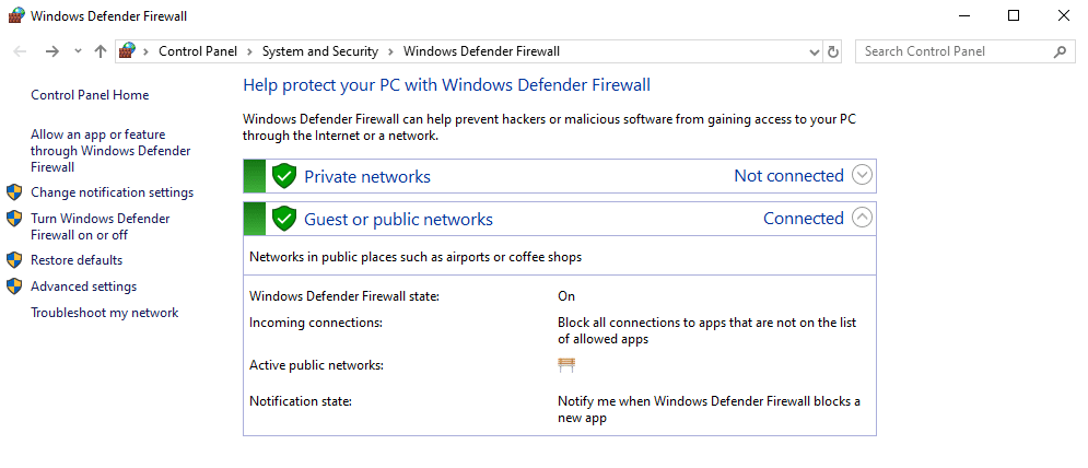 firewall personal