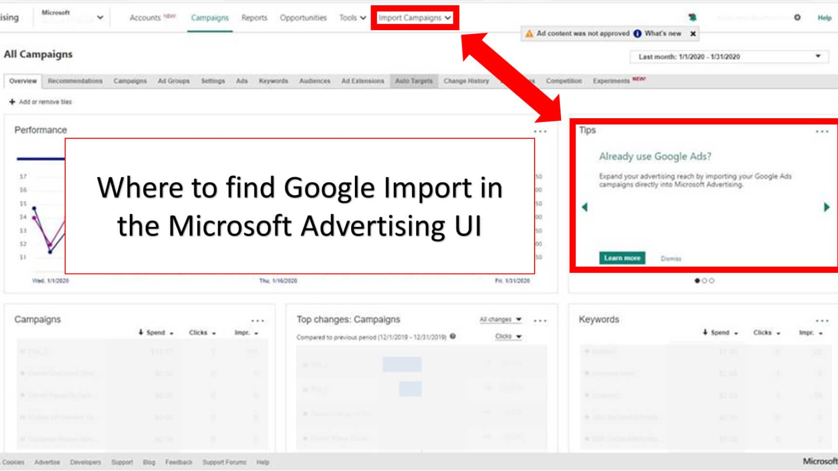 ¿Realiza una importación de Google a Microsoft Ads?  Esto es lo que necesitas saber