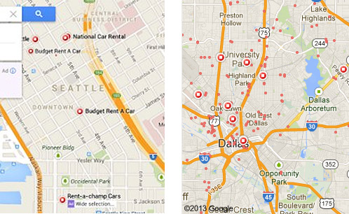 New Google Maps Interfaces & Leaked Map Design Images