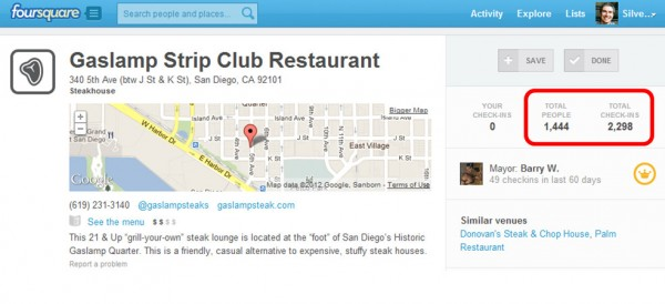 Foursquare Check-In Pages