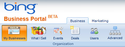 Bing Busiess Portal for optimizing business listings appearing in Bing Local search results.