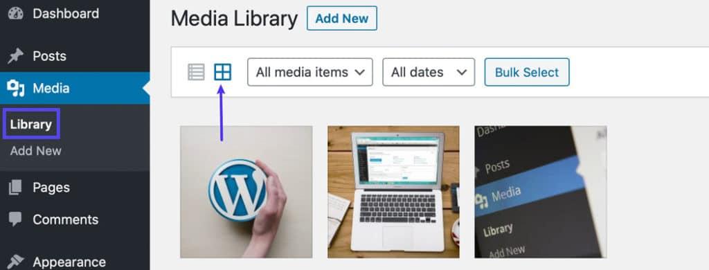 La biblioteca de medios de WordPress: regenerar miniaturas
