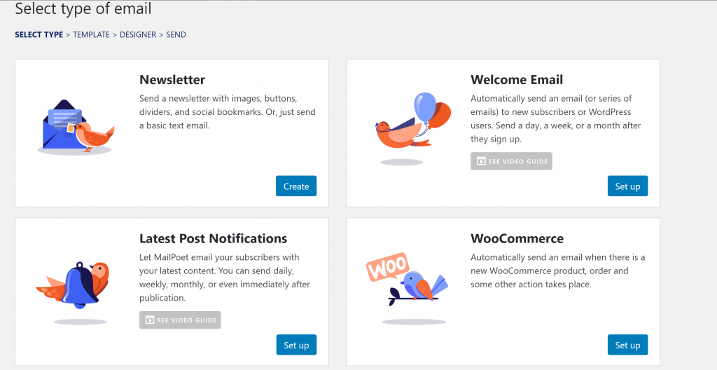 Cómo solicitar comentarios del cliente por correo electrónico: MailPoet Email Select