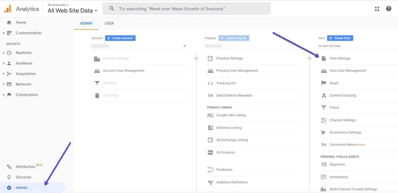 Configurar una vista sin filtrar en Google Analytics