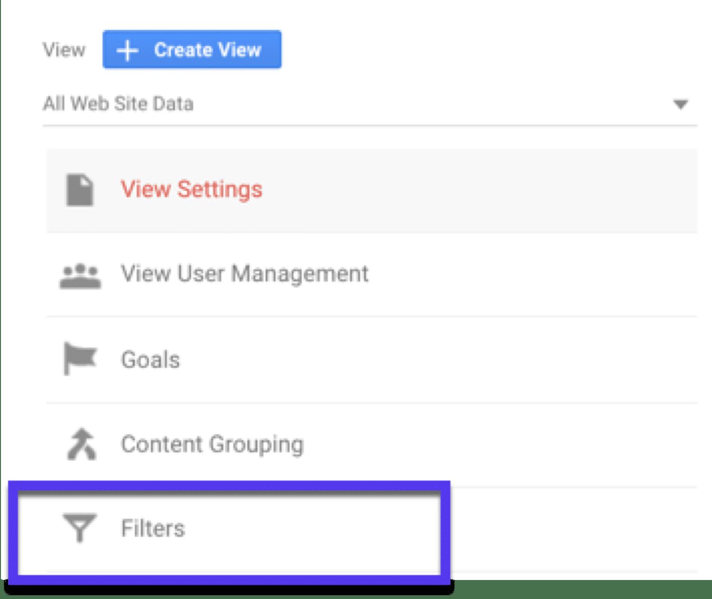 Creando un filtro en Google Analytics