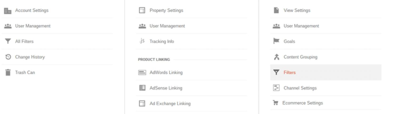 Cree una lista de nombres de host válidos en Google Analytics