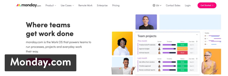Monday.com Project Management Software con integración de WooCommerce