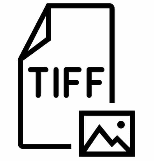 Tipos de archivos de imagen: icono tiff