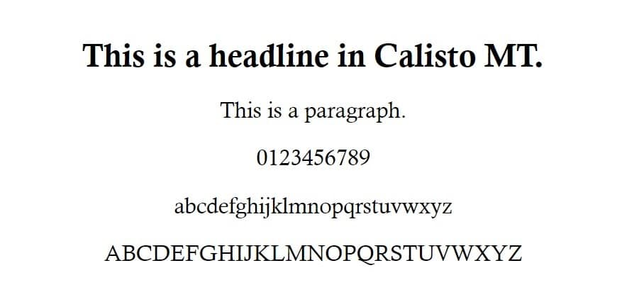 calisto mt font - fuentes seguras para la web