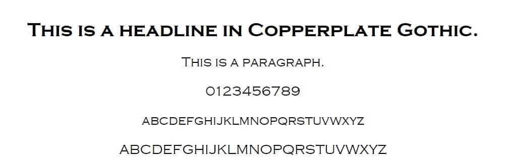 placa de cobre gótica