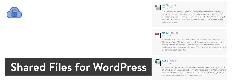 Archivos compartidos para el complemento de WordPress