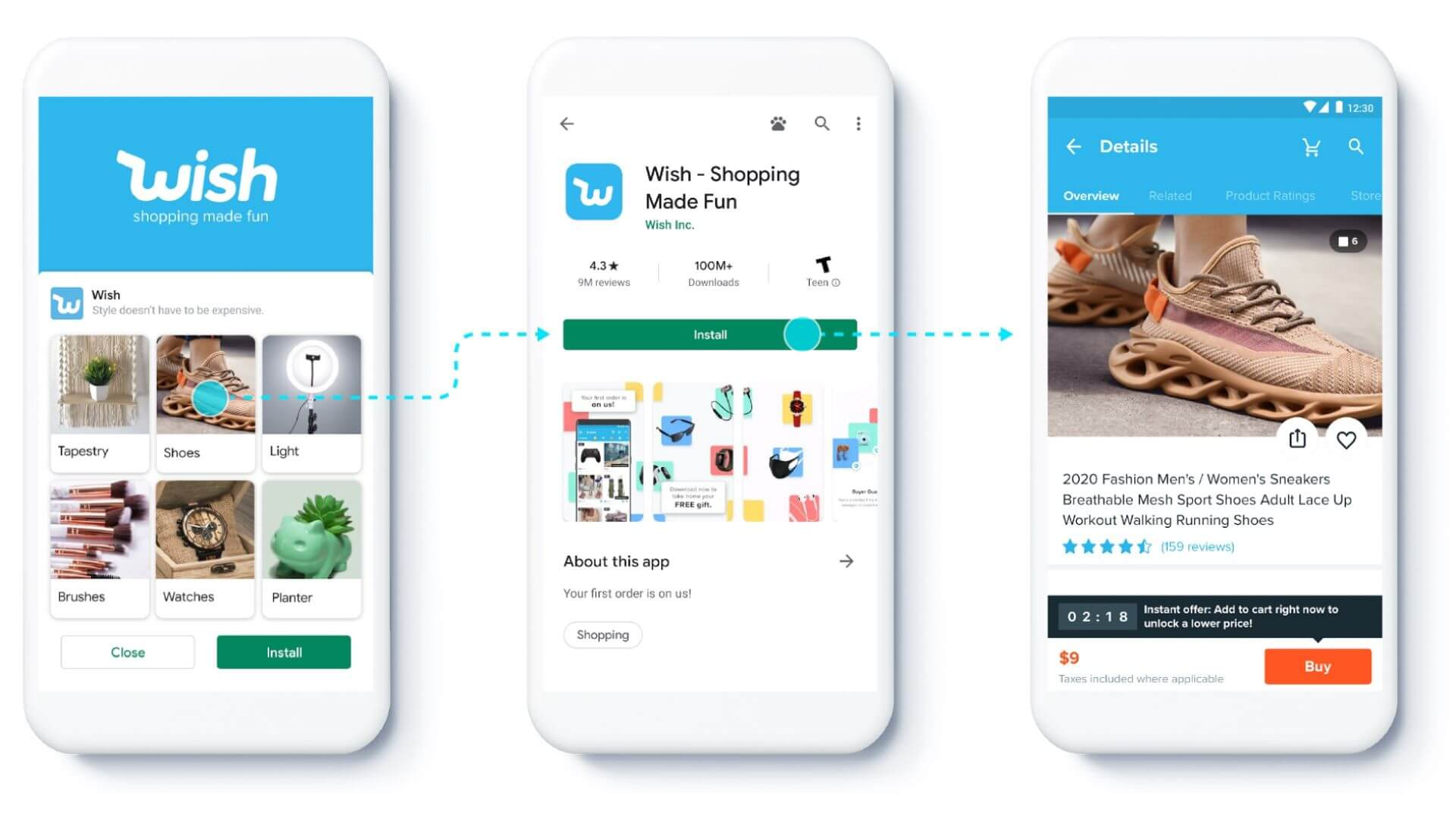 Google prueba feeds para campañas de instalación de aplicaciones, amplía los enlaces profundos y los informes