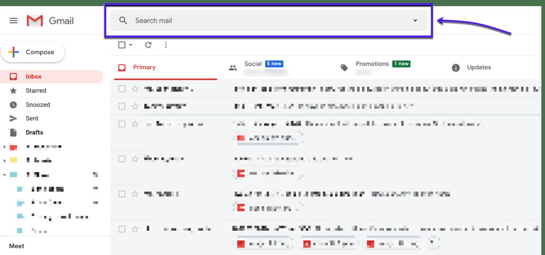 Usar comandos de búsqueda en Gmail