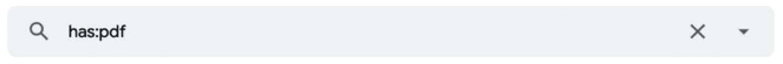 Encuentre correos electrónicos que contengan un tipo específico de archivo adjunto