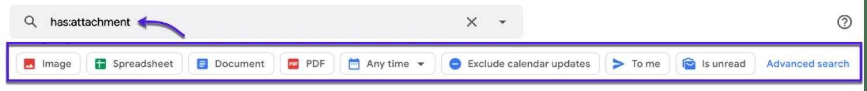 Precargar filtros de búsqueda en Gmail