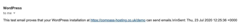 Prueba de correo electrónico recibida