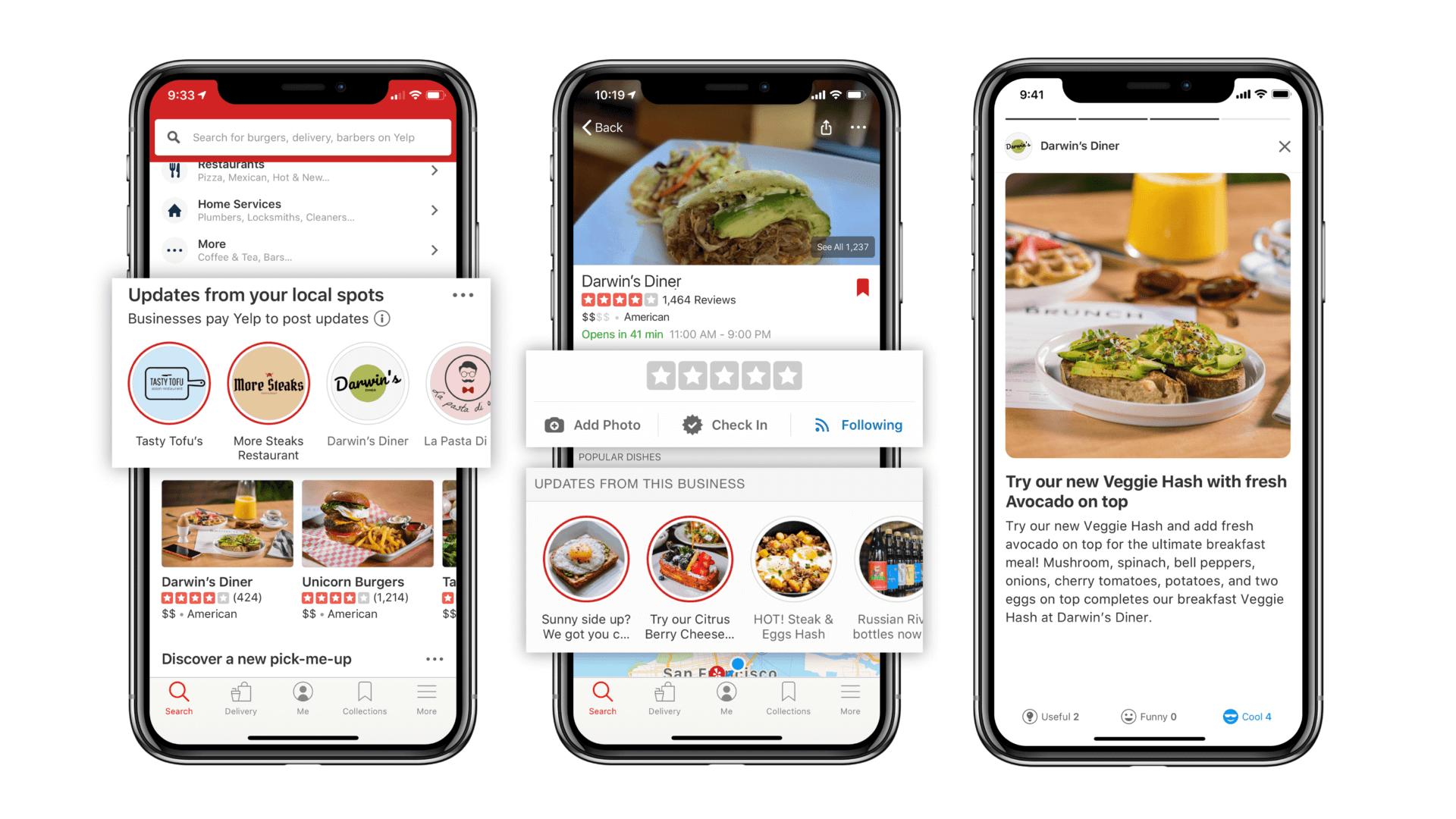 Yelp presenta 'Connect' y nuevas funciones de lista de espera para restaurantes