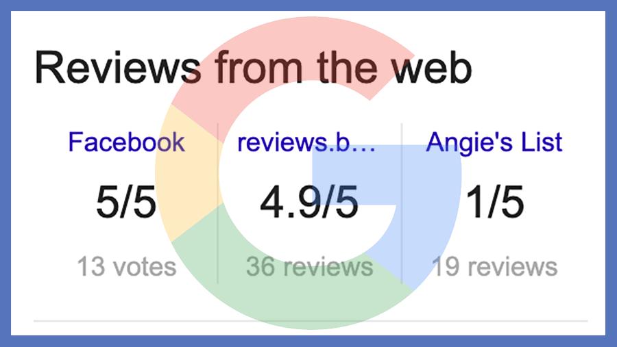 La inconsistencia de Google con las reseñas de terceros es una experiencia de usuario confusa