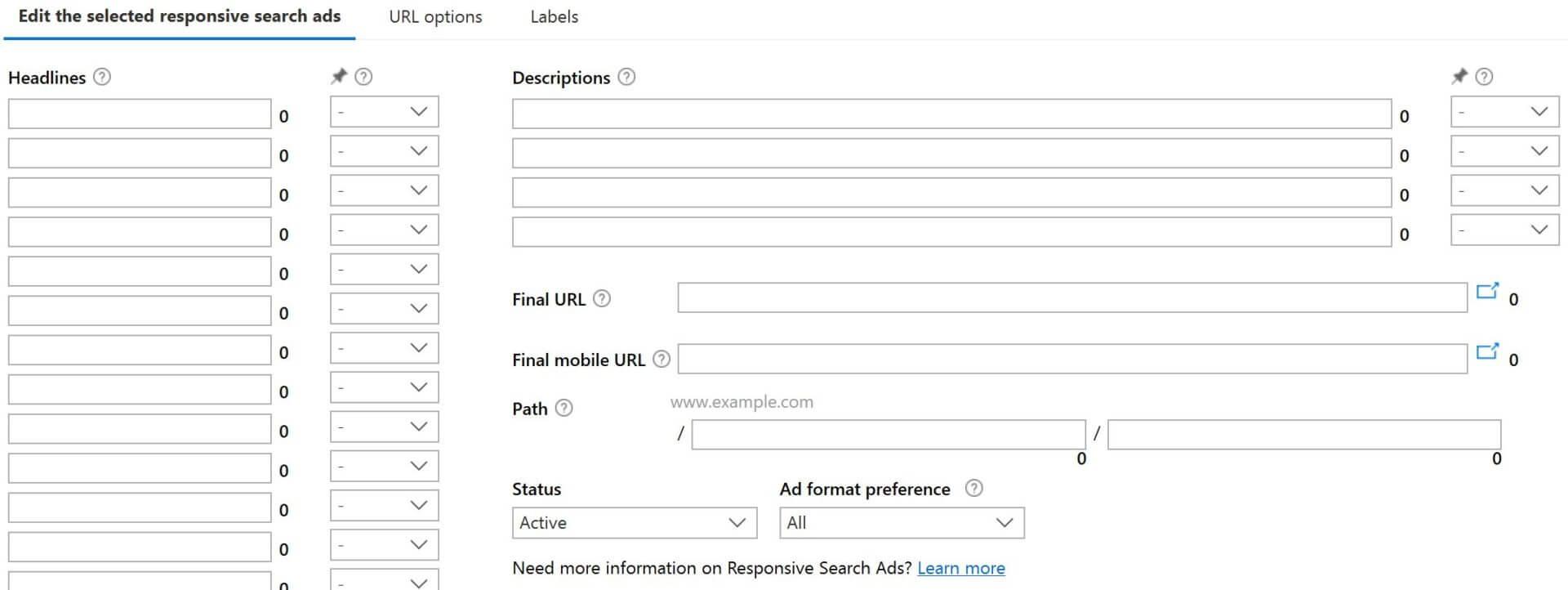 Anuncios de búsqueda receptivos disponibles a nivel mundial en todas las interfaces de Microsoft Advertising