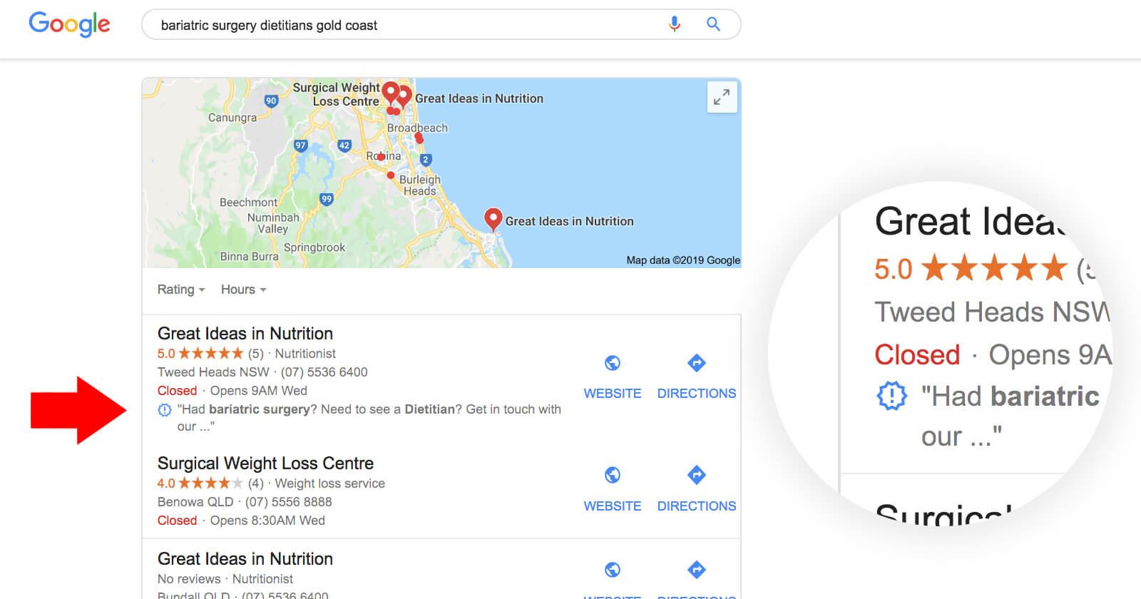 ¿Qué significan los símbolos en Map Pack y Local Finder de Google?