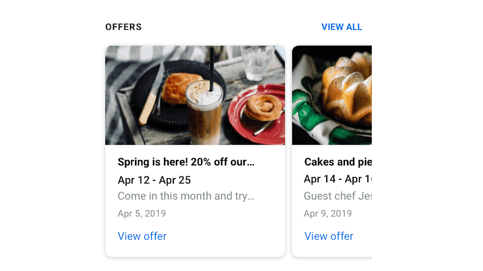 Google My Business aumenta la visibilidad de las ofertas comerciales en las publicaciones de Google