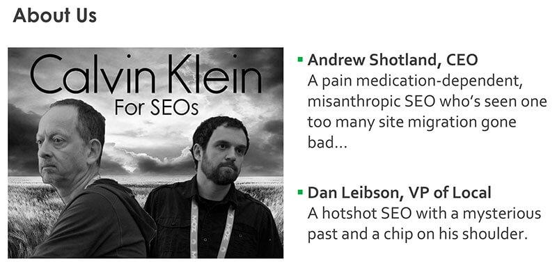 Información sobre Andrew Shotland y Dan Leibson en SMX West 2017