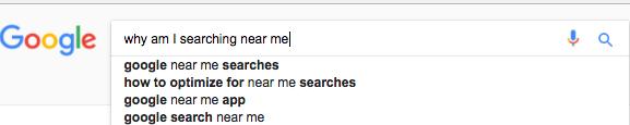 ¿Por qué estoy buscando cerca de mí?