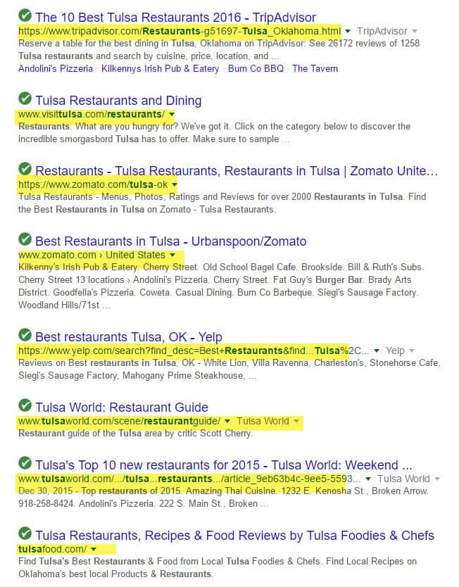 Los listados de citas se muestran en las páginas de resultados del motor de búsqueda