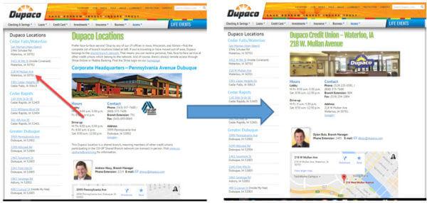 Configure páginas locales individuales.