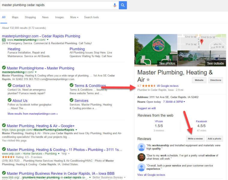 Las revisiones en línea de Google hacen que una empresa se destaque