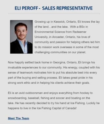 Biografía del empleado de bienes raíces