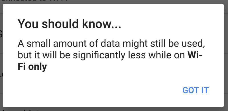 notificación de google-maps-android-wifi-only