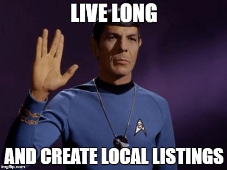 Viva mucho y cree listados locales