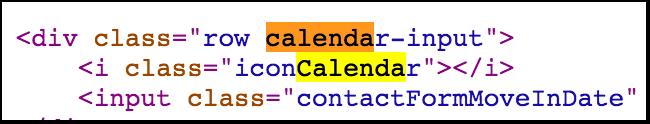 Código de calendario