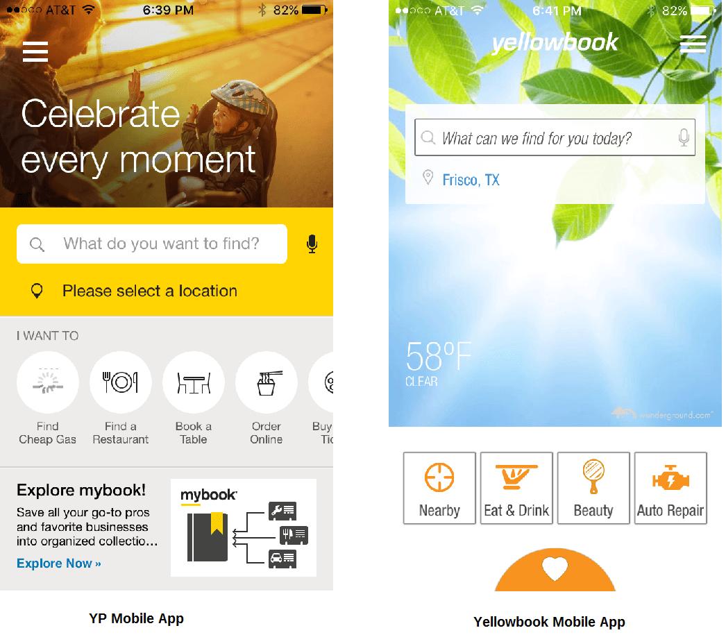 Aplicaciones móviles de YP y Yellowbook
