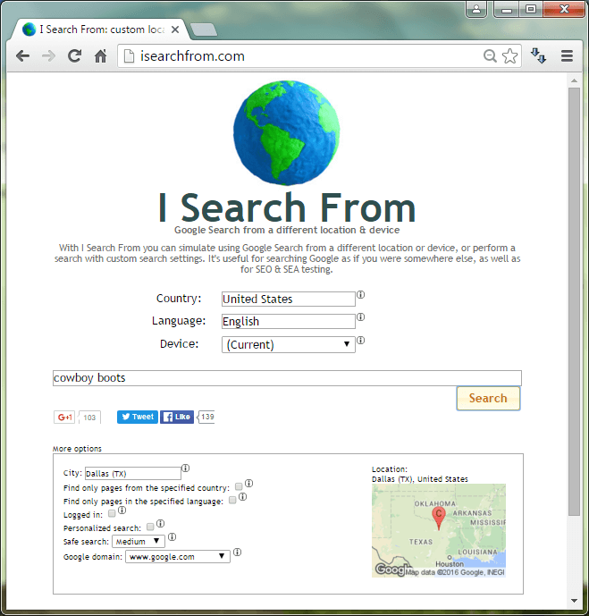 isearchfrom sitio web