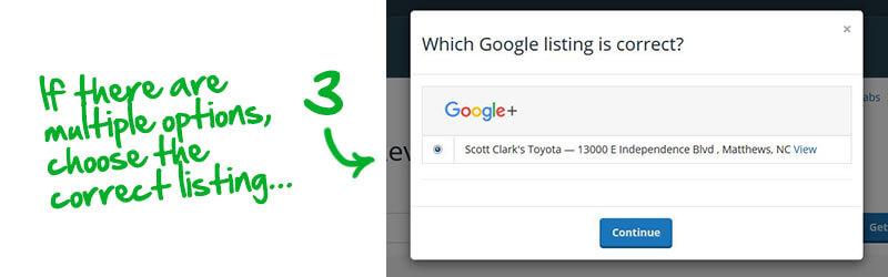 Obtenga un enlace para las reseñas de los clientes después de la actualización de Google Plus