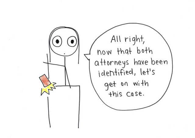 Encontrar una caricatura de abogado