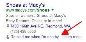 adwords me recuerda cuando estoy cerca de la extensión automática de anuncios google ahora