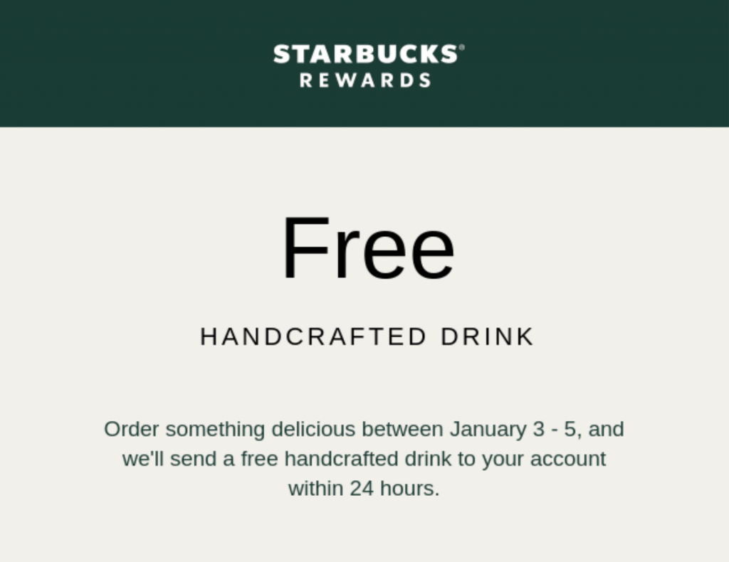 Autorespondedores de WordPress: oferta gratuita de Starbucks