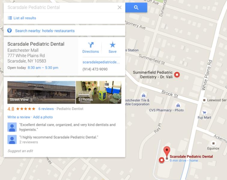 google-maps-dentist-office