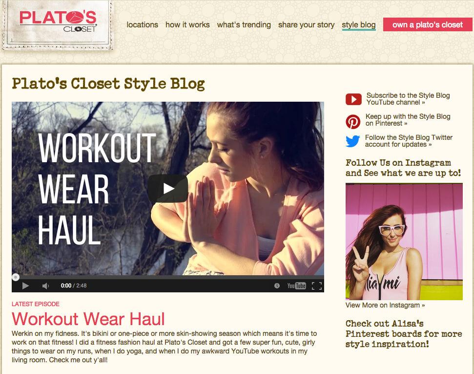 Imagen del blog de Platos Closet: influencia de búsqueda