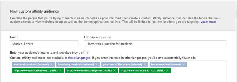 Creación de segmentos personalizados