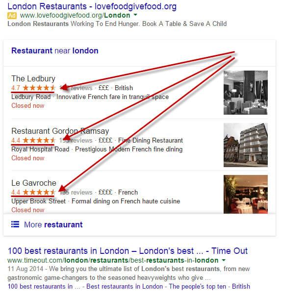 Búsqueda de restaurantes de Londres