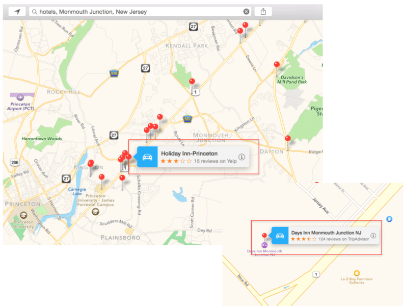 Reseñas de Apple Maps