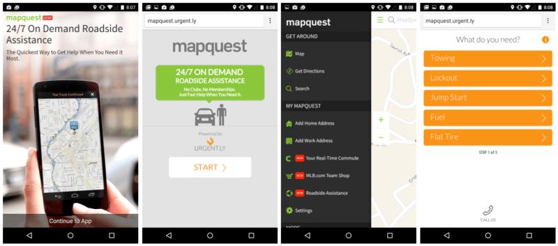 Mapquest urgentemente