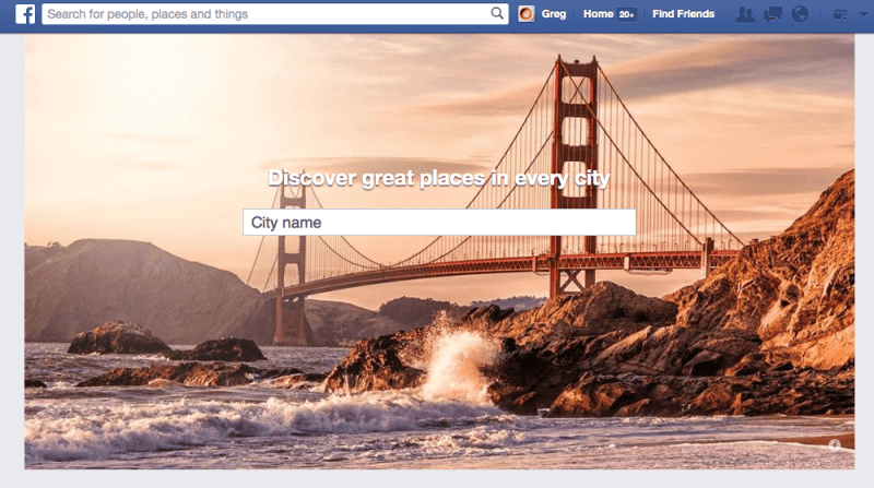Lugares de Facebook