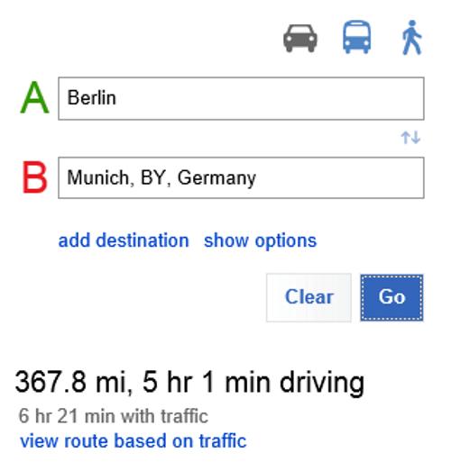 Bing Maps ve la ruta basada en el tráfico