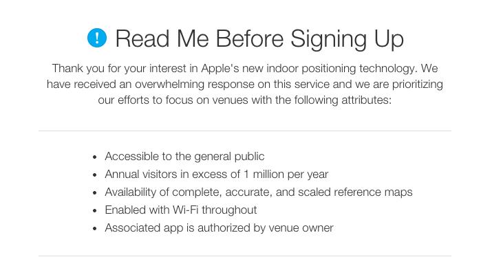 Solicitud de iBeacon de Apple