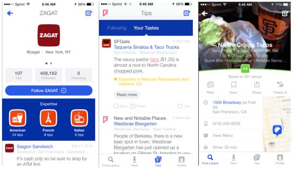 Nueva aplicación de Foursquare